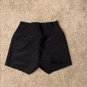 Spandex shorts with back zipper